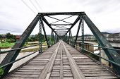 stock photo of trestle bridge  - The old iron bridge - JPG