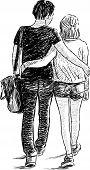 Walking Young Couple.eps