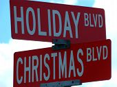 Holiday & Christmas Blvd. Sign