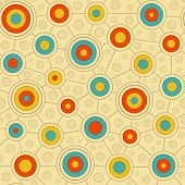 Circular Pattern In Retro Colors