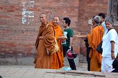 Buddhist Monks In Nepal