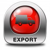 foto of export  - export red icon international trade logistics freight transportation world economy exportation of products - JPG