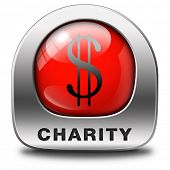 charity red icon fund raising raise money to help donate give a generous donation or help with the f
