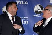 SANTA BARBARA - FEB 6:  Jonah Hill, Martin Scorsese at the Santa Barbara International Film Festival