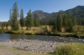 pic of beartooth  - Mountain stream along Beartooth Highway in northern Wyoming - JPG
