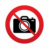 No Photo camera sign icon. Photo symbol.
