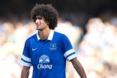 LOS ANGELES - AUGUST 3: Everton M Marouane Fellaini during the 2013 Guinness International Champions