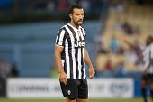 LOS ANGELES - AUGUST 3: Juventus F Fabio Quagliarella during the 2013 Guinness International Champions Cup game between Juventus and the Los Angeles Galaxy on Aug 3, 2013 at Dodger Stadium.