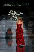 NEW YORK-FEB 6: Annasophia Robb wears Alice & Olivia by Stacey Bendet at Heart Truth Red Dress Collection show during Mercedes-Benz Fashion Week at Lincoln Center on February 6, 2014 in New York City.