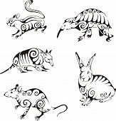 Animals In Tribal Style