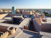 Ancient city of Itchan Kala at sunny day, Khiva, Uzbekistan
