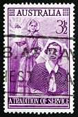 Postage Stamp Australia 1955 Florence Nightingale, Nurse