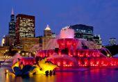chicago buckingham fountain series at night 95353