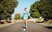 Woman Running Hard And And Sweating