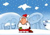 Santa gives gift