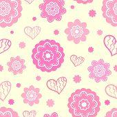 Romantic seamless pattern (tiling). Vector illustration