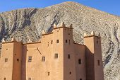 Ancient casbah building in Morocco, North Africa
