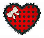 Heart Shaped Red Polka Dot Patch