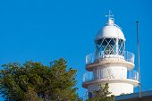 Cabo de San Antonio Cape Lighthouse in Denia Javea of Alicante in Mediterranean Spain