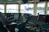 Ships Bridge With Complex Control Panel
