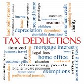 Tax Deductions Word Cloud Concept
