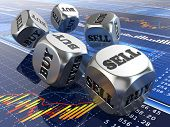 image of dice  - Stock market concept - JPG