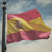 Flag of Spain with retro effect.
