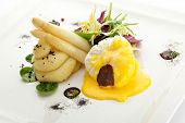 Poached Egg with Mashed Potato and Truffel Slice