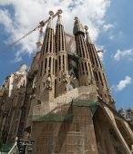 BARCELONA/CATALONIA, PORTUGAL - August 22, 2013: Church of Sacred family