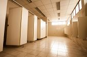 stock photo of urination  - The beauty of  large Public toilet  - JPG