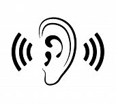 picture of human ear  - Vector ear icon - JPG