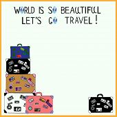 Poster: World is so beautiful, let's go travel! (with a space for your text)