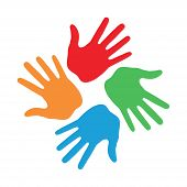 Hand Print icon 4 colors