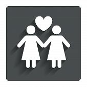 foto of lesbian  - Couple sign icon - JPG