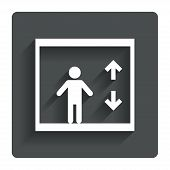 picture of elevator icon  - Elevator sign icon - JPG