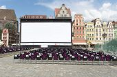 WROCLAW, POLAND - AUGUST 3: Empty cinema before the evening show as part of New Horizons Cinema, Poland's Largest Art House Cinema on 3 August 2014 in Wroclaw, Poland.