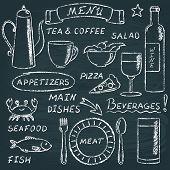 Chalkboard menu elements set 2