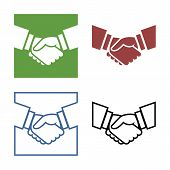 Business handshake set