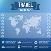 Blurred Landscape, Map, Web and Mobile Template. Vector