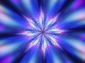 pic of indian blue  - Magic blue mandala energy chakra computer generated abstract background - JPG