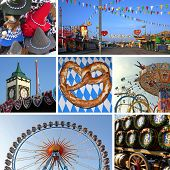 Collage - Bavarian Oktoberfest Munich