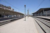 Empty passenger platforms.