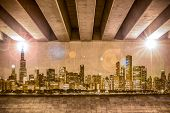 Chicago Skyline As Wall Drawing