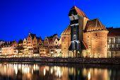 Old town on Motlawa in Gdansk