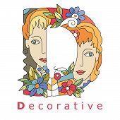 Letter D - Decorative