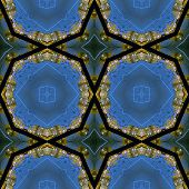 stock photo of night-blooming  - Kaleidoscopic night city seamless generated texture or background - JPG