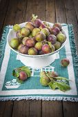 Fruit Bowl With Greengage Plums
