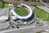 Gold Coast, Australia - June 16: Aerial View Of Metricon Stadium On June 16, 2013 On Gold Coast, Aus