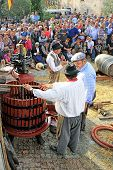 Festival Of The Grape Harvest In Chusclan Village, South Of France