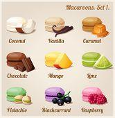 Macaroons. Set